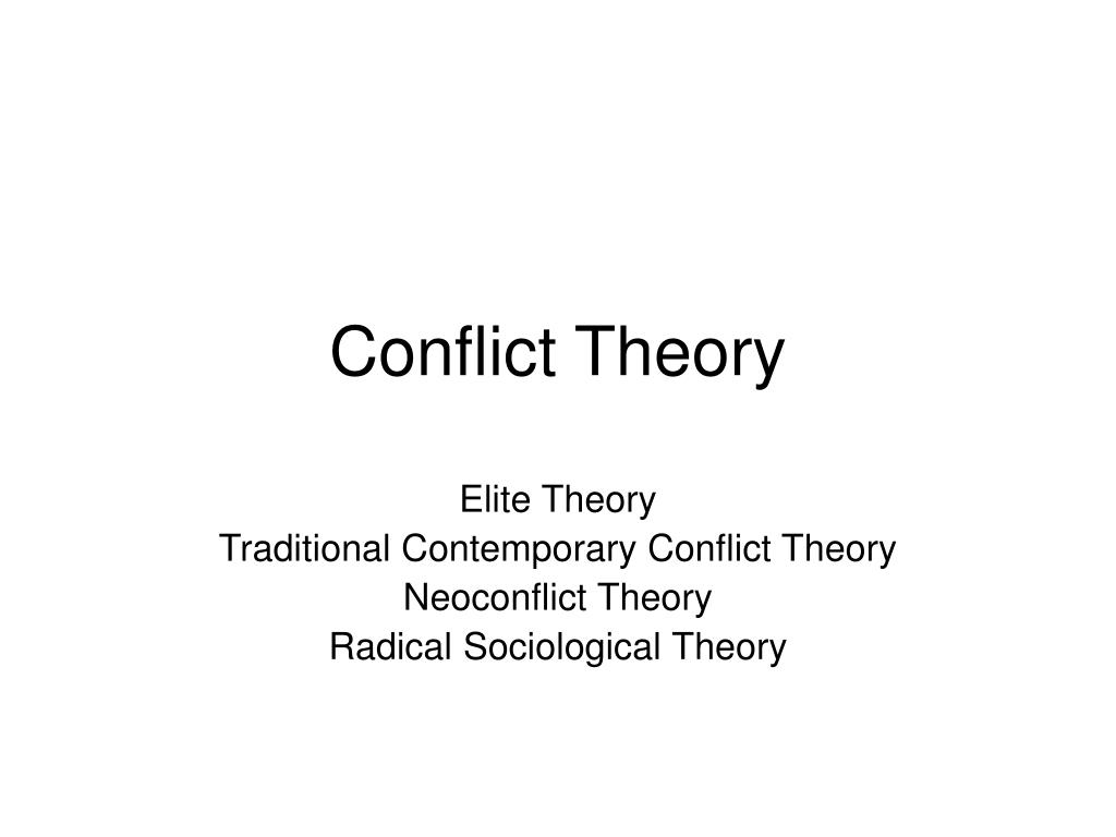 conflict theory l.