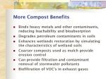more compost benefits