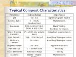 typical compost characteristics