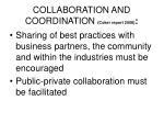 collaboration and coordination coker report 2008