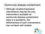 community disease containment39