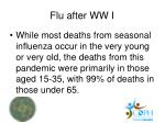 flu after ww i