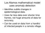 los alamos mathematical model uses anomaly detection