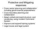 protective and mitigating responses