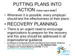 putting plans into action coker report 2008