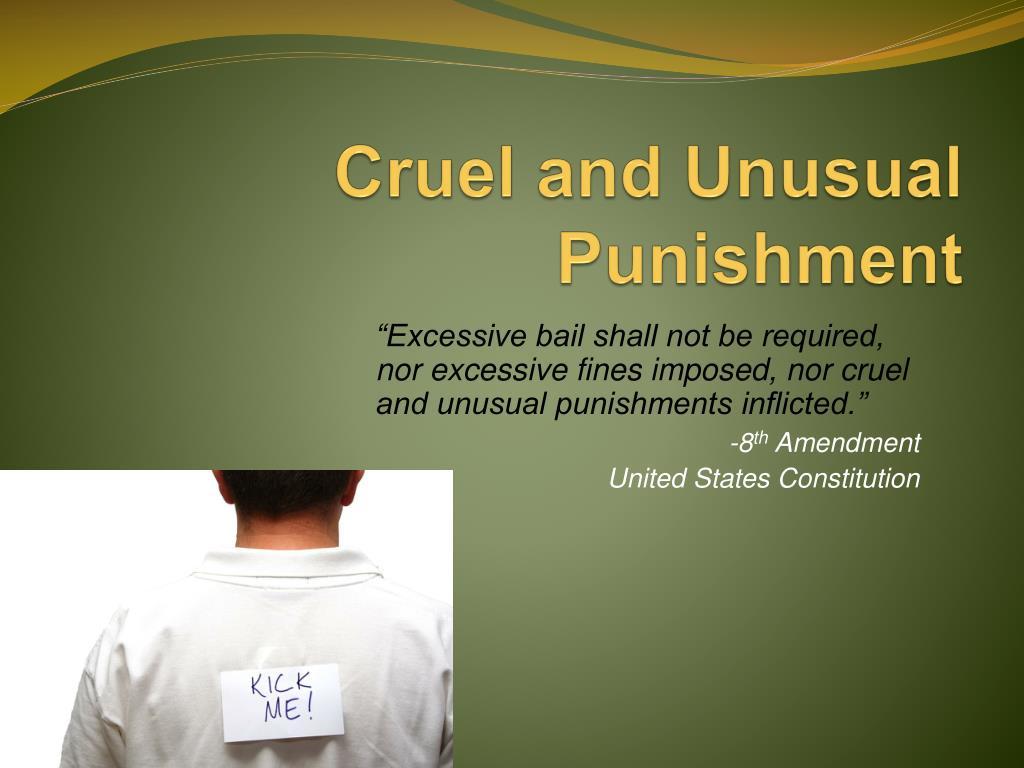 cruel and unusual punishment l.
