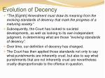 evolution of decency