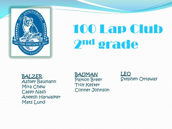 100 Lap Club