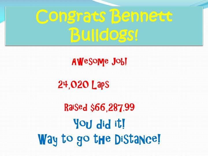 Congrats Bennett Bulldogs!