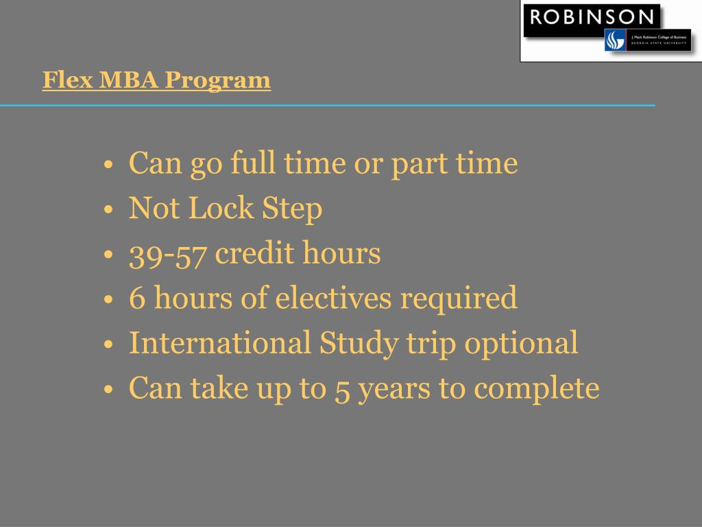 Flex MBA Program