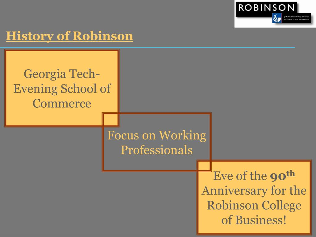History of Robinson