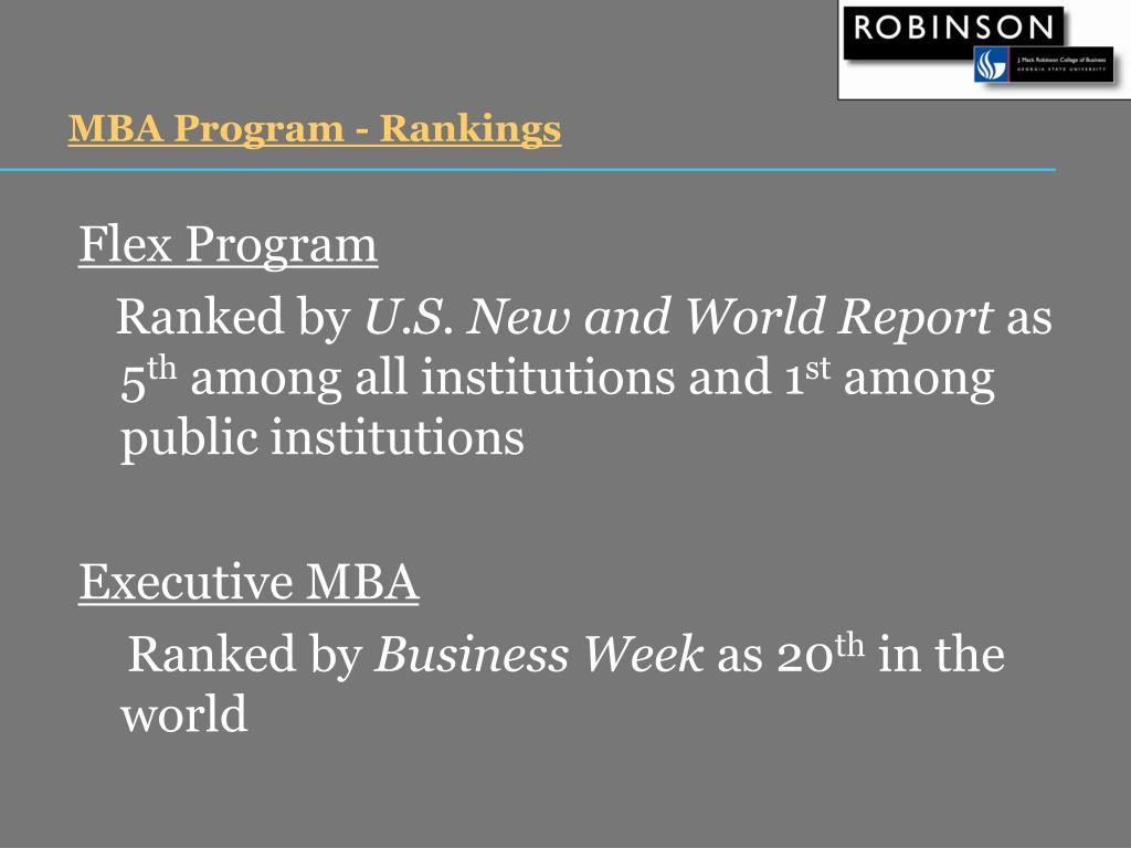 MBA Program - Rankings