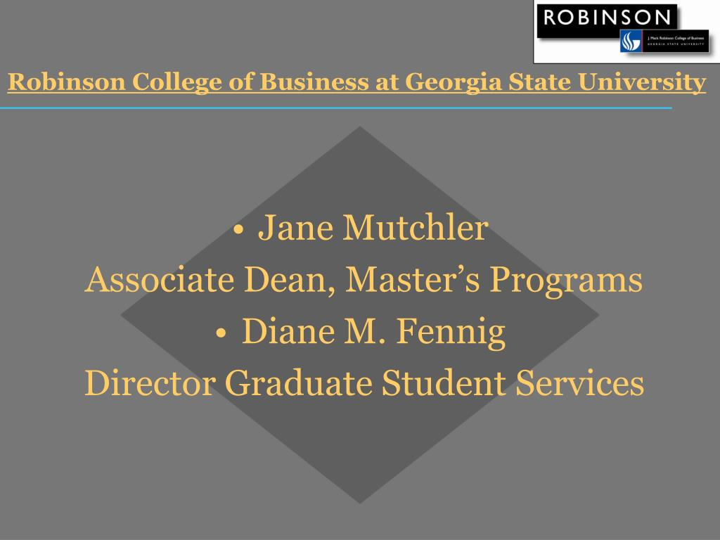 Robinson College of Business at Georgia State University