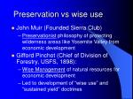 preservation vs wise use