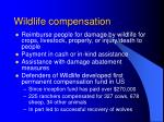 wildlife compensation