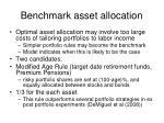 benchmark asset allocation1