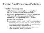 pension fund performance evaluation