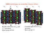 mdo polytypes in xonotlite layer a 2 m