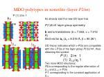 mdo polytypes in xonotlite layer p 2 m