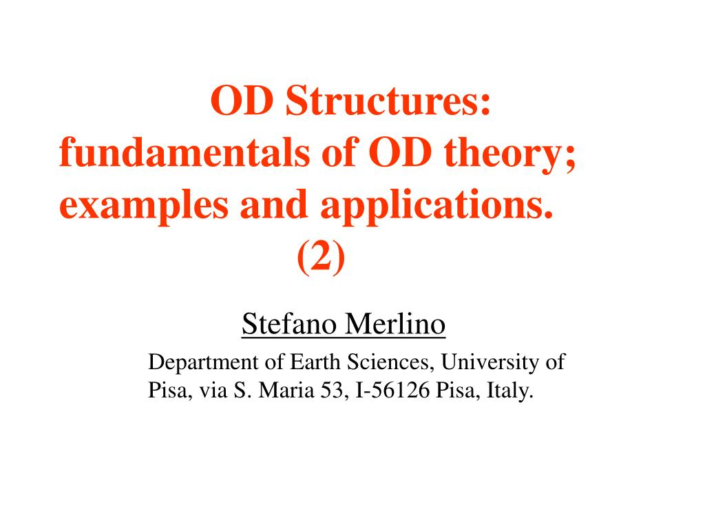 od structures fundamentals of od theory examples and applications 2 l.