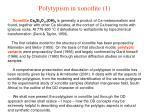 polytypism in xonotlite 1