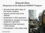 ground zero response of the national hazmat program