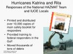 hurricanes katrina and rita responses of the national hazmat team and iuoe locals