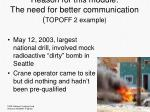 reason for this module the need for better communication topoff 2 example