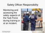 safety officer responsibility