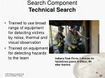 search component technical search