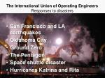 the international union of operating engineers responses to disasters