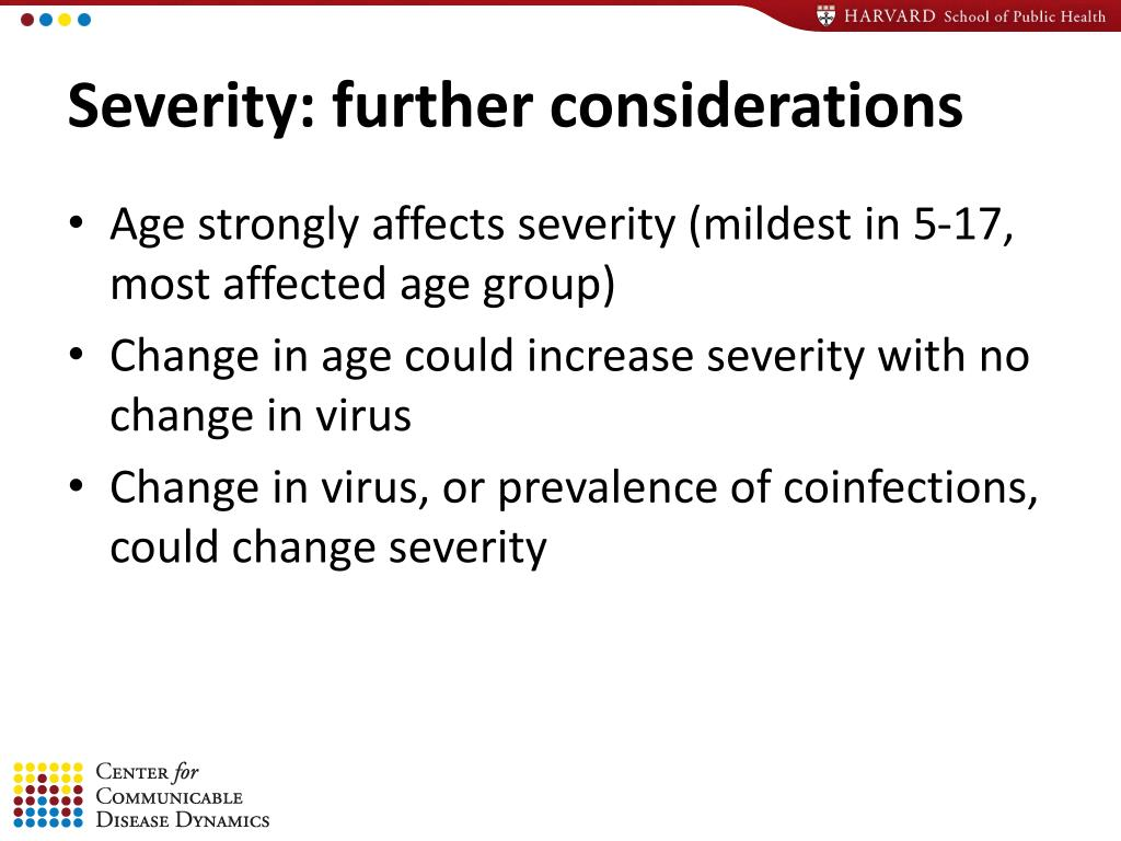 Severity: further considerations