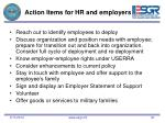 action items for hr and employers