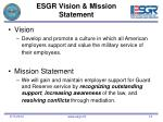 esgr vision mission statement