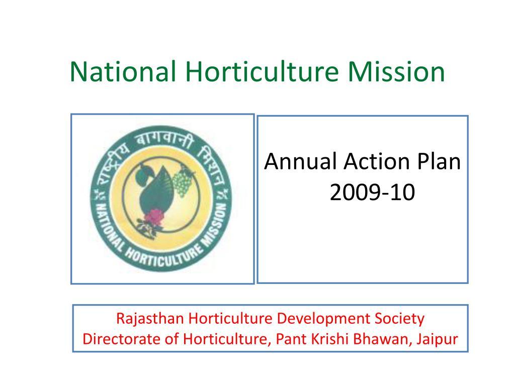 national horticulture mission l.