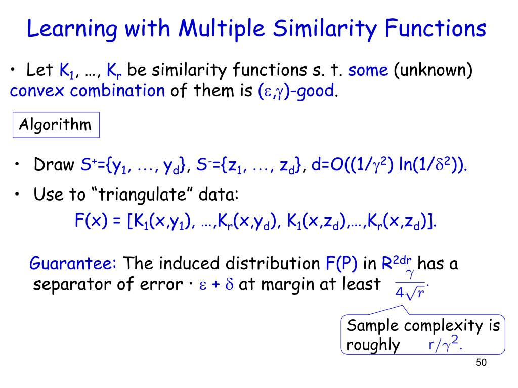 Sample complexity is roughly