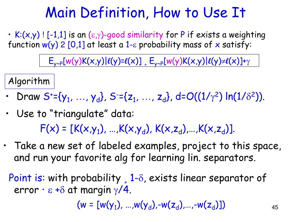 Main Definition, How to Use It