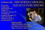 2008 north carolina aquaculture species
