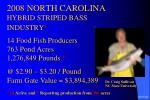2008 north carolina hybrid striped bass industry