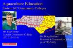 aquaculture education eastern nc community colleges
