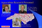 aquaculture research personnel