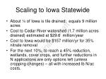 scaling to iowa statewide