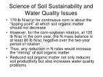 science of soil sustainability and water quality issues