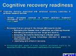 cognitive recovery readiness