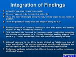 integration of findings