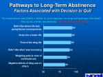 pathways to long term abstinence factors associated with decision to quit
