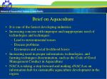 brief on aquaculture