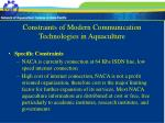 constraints of modern communication technologies in aquaculture14