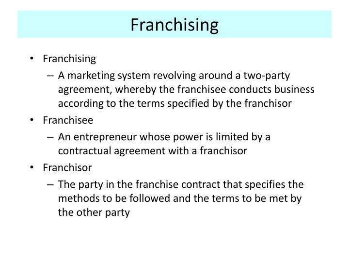 Ppt Franchising Powerpoint Presentation Id237747