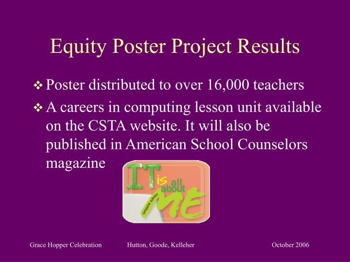 Equity Poster Project Results